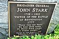 Bennington Monument - John Stark plaque (9371730039).jpg