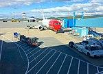 Bergen Airport, Flesland, Norway Norwegian Air Shuttle jet bridge baggage 2015-09-21.jpg