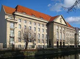 Bendlerblock - South facade on Landwehr Canal