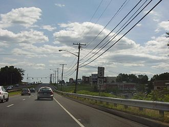 Newington, Connecticut - A view of the Berlin Turnpike