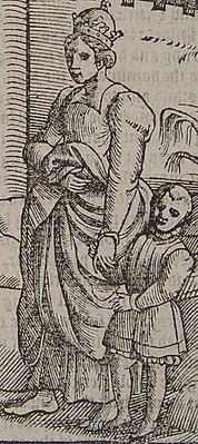 Bertha of Savoy, the Holy Roman Empress, was dong a penance barefoot.jpg