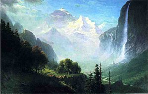 1865 in art - Image: Bierstadt Albert Staubbach Falls Near Lauterbrunnen Switzerland