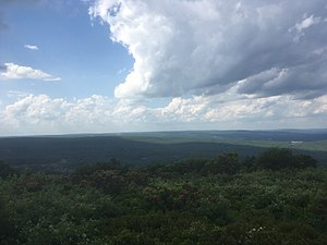 Big Pocono State Park - View north from Big Pocono State Park at Camelback Mountain