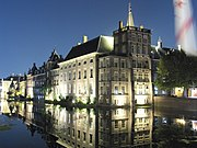 Binnenhof at night