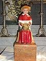 Biollet (Puy-de-Dôme) église statue Merci, enfant de choeur.JPG