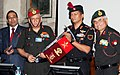 Bipin Rawat receiving the expedition flag at the flag-in ceremony of the MAHAR Regiment Mount Kamet Expedition 2016.jpg