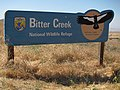 Bitter Creek National Wildlife Refuge, California, USA -sign-18Aug2010.jpg