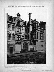 Blätter für Architektur und Kunsthandwerk, 1895, Tafel 10