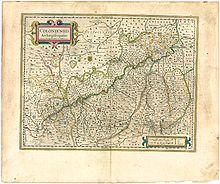 Karte des Erzstifts von Joan Blaeu aus dem Jahr 1645