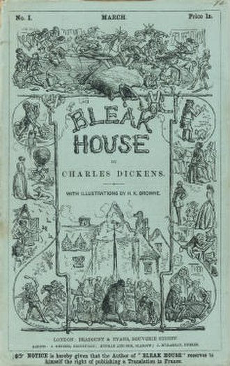 Bleak House - Cover of first serial, March 1852
