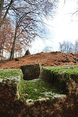 Bloc de piatra din zidul murus-dacicus