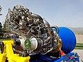Blue Origin BE-4 rocket engine, sn 103, April 2018 -- LOX inlet side view.jpg
