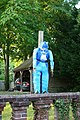 Blue scarecrow - Blewbury Scarecrow Competition, Oxfordshire - geograph.org.uk - 1366212.jpg