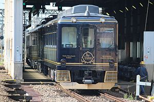 Kintetsu 6200 series - The 16200 series Blue Symphony sightseeing train in July 2016