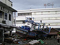 Boat tossed ashore near Hotel Medan after 2004 tsunami DD-SD-06-07367.JPEG