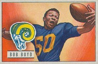 Bob Boyd (American football) - Boyd on a 1951 Bowman football card