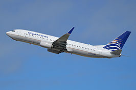 Boeing 737-8V3(w) 'HP-1831CMP' Copa Airlines (14251955715).jpg