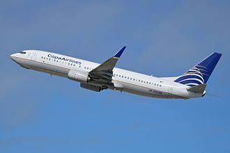 Copa Airlines - A Copa Airlines Boeing 737-800 departing Los Angeles International Airport, in California (2014).