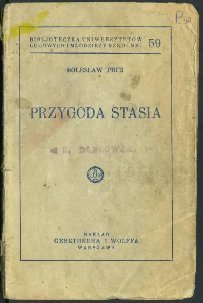 File:Bolesław Prus-Przygody Stasia.djvu