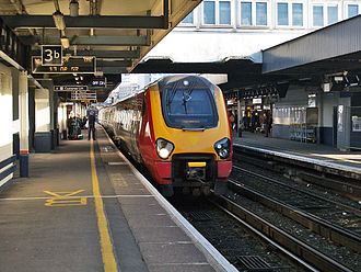 Southampton Central railway station - Image: Bombardier class 221 diesel electric at Southampton Central station, UK