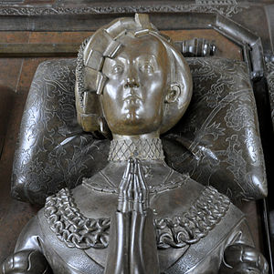 Anna of Brandenburg - Portrait of Anna of Brandenburg from the Bordesholm cenotaph
