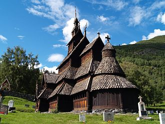 Borgund Stave Church - Borgund Stave Church in Lærdalen