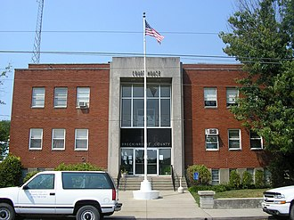 Hardinsburg, Kentucky - Breckinridge County courthouse in Hardinsburg