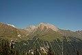 Bretterwandspitze, Gradötz und Kendlspitze von der Wodenalm.JPG