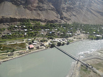 Shighnan District - Friendship bridge between Tajikistan, and Afghanistan Across the Panj river in Region Shughnon-Shughnan!