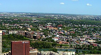 Bridgeland, Calgary - Bridgeland seen from Calgary Tower