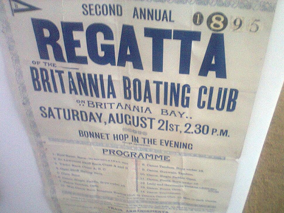 Britannia Yacht Club regatta 1895