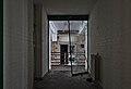 Broken glass door leading to the outdoor in Sanatorium du Basil, Stoumont, Belgium (DSCF3522).jpg