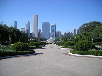 English: Buckingham Fountain in Grant Park in ...