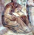 Buffalmacco, trionfo della morte, eremiti 12 eremita che legge.jpg