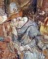 Buffalmacco, trionfo della morte, incontro dei tre vivi coi tre morti 31 cavaliere.jpg
