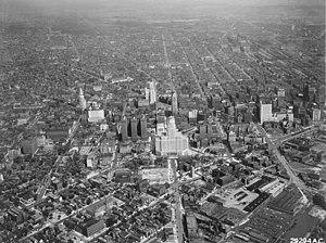 Timeline of Buffalo, New York - Downtown Buffalo in 1945