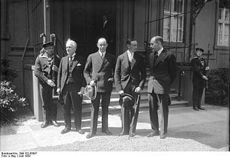Carl Ben Eielson - Carl Ben Eielson and George Hubert Wilkins visit Paul von Hindenburg in 1928