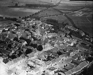 Artern - Aerial picture of Artern, ca. 1940