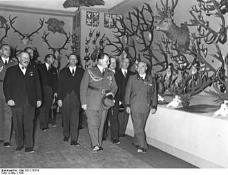 William Keith Neal - Hermann Göring at the opening of the International Hunting Exhibition in Berlin, 1937.