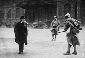 Французские солдаты во время оккупации Рура