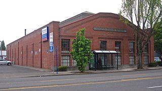 Bay E, West Ankeny Car Barns historic building in Portland, Oregon, USA
