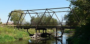 National Register of Historic Places listings in Butler County, Nebraska - Image: Butler County Clear Creek bridge from W