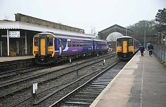 Buxton railway station - Image: Buxton Station on a dull day geograph.org.uk 1770154