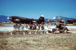 437th Airlift Wing - 437th Troop Carrier Wing C-46Ds during the Korean War.