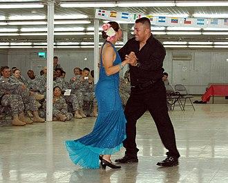 Bachata (music) - A couple dancing bachata