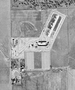 overhead photograph of the missile launch site area