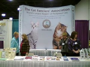 Cat Fanciers' Association - Cat Fanciers' Association (CFA) booth at the 2008 CFA International Cat Show in Atlanta on November 22, 2008.