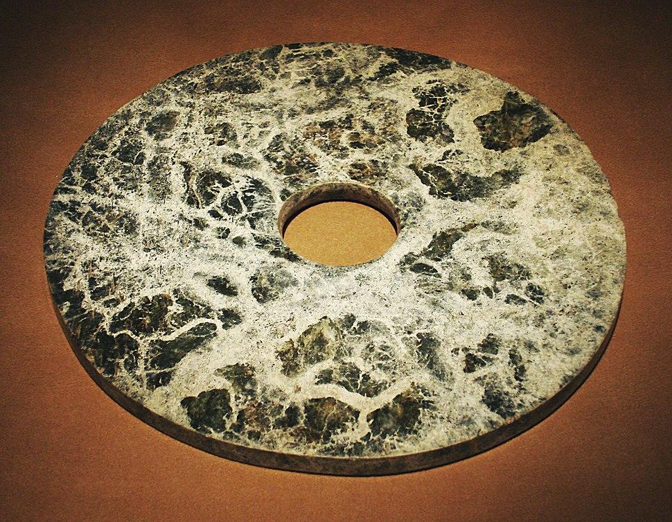 CMOC Treasures of Ancient China exhibit - jade disk