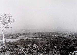 Tasikmalaya Regency - a 1920–1935 photograph showing a landscape of Tasikmalaya Regency – Neglasari, Salawu Subdistrict.