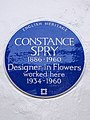 CONSTANCE SPRY 1886-1960 Designer in Flowers worked here 1934-1960 - Blue Plaque.JPG
